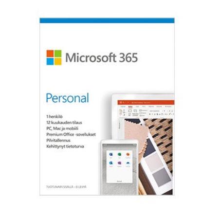 Microsoft 365 Personal – Tilauslisenssi (1 vuosi) – 1 käyttäjä – 5 laitetta- All Languages – Eurozone (ESD)