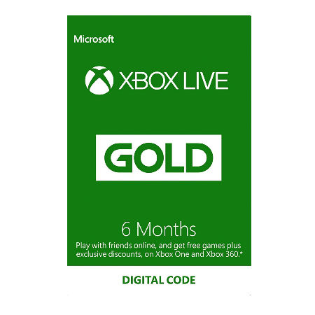 Microsoft Xbox LIVE – 6 Month Gold – Eurozone Online R17 (ESD)
